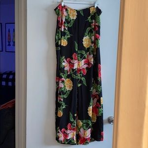 Floral Wide Leg forever 21 pants 1X